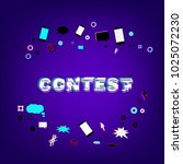 contest lettering with random... | Shutterstock .eps vector #1025072230