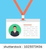 identification card for man.... | Shutterstock .eps vector #1025073436