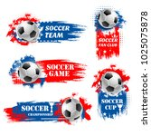 soccer game tournament... | Shutterstock .eps vector #1025075878