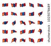 mongolia flag  vector... | Shutterstock .eps vector #1025078689