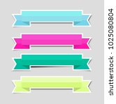cute color ribbon banners paper ... | Shutterstock .eps vector #1025080804