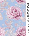 seamless pattern. decorative... | Shutterstock . vector #1025085544