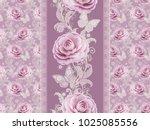 seamless pattern. decorative... | Shutterstock . vector #1025085556