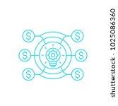 venture capital fund  vector... | Shutterstock .eps vector #1025086360