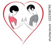 illustration of love  harmony... | Shutterstock .eps vector #102508790