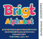 vector colorful bright alphabet ... | Shutterstock .eps vector #1025092993