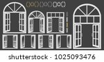 window  large set of windows... | Shutterstock .eps vector #1025093476