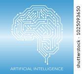 artificial intelligence concept ...   Shutterstock .eps vector #1025093650