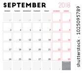 calendar planner for september... | Shutterstock .eps vector #1025095789