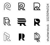 r letter line abstract modern... | Shutterstock .eps vector #1025096524