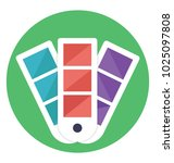 flat icon color shades  color... | Shutterstock .eps vector #1025097808