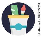 flat icon stationery holder ... | Shutterstock .eps vector #1025097910