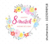 woman s day typography   hand... | Shutterstock .eps vector #1025098918
