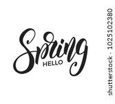 Spring. Trendy Script Letterin...