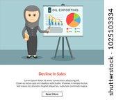decline in sales job information | Shutterstock .eps vector #1025103334