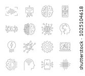future technologies icons. ai ... | Shutterstock .eps vector #1025104618