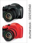 digital slr camera isolated on...   Shutterstock .eps vector #102510560