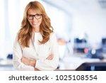 a beautiful mature... | Shutterstock . vector #1025108554