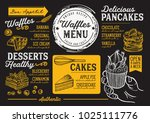 waffles and crepes restaurant... | Shutterstock .eps vector #1025111776