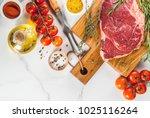 fresh raw meat  lamb beef... | Shutterstock . vector #1025116264