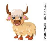 beautiful funny cartoon wild... | Shutterstock .eps vector #1025116663