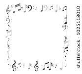music notes abstract background.... | Shutterstock .eps vector #1025118010