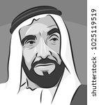 portrait of    sheikh zayed   ...   Shutterstock .eps vector #1025119519