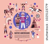 native americans design concept ... | Shutterstock .eps vector #1025123779