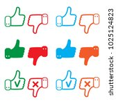 like and dislike icons set.... | Shutterstock .eps vector #1025124823