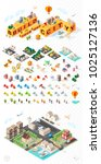 build your own city . set of... | Shutterstock .eps vector #1025127136