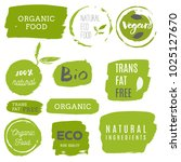 healthy food icons  labels.... | Shutterstock .eps vector #1025127670
