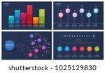 set of vector 6 options  steps  ... | Shutterstock .eps vector #1025129830