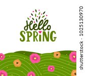 hand drawn lettering hello... | Shutterstock .eps vector #1025130970