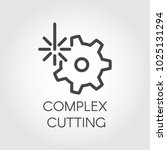 complex cutting concept icon... | Shutterstock .eps vector #1025131294