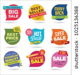 modern sale stickers and tags... | Shutterstock .eps vector #1025136388