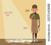 crime scene vector. detective... | Shutterstock .eps vector #1025140888
