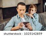 pay attention. upset pre teen... | Shutterstock . vector #1025142859