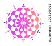colorful mandala sacred ancient ... | Shutterstock .eps vector #1025145016