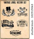 Stock vector vintage label vector set 102515063