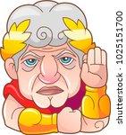legendary emperor of rome guy... | Shutterstock .eps vector #1025151700