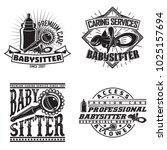 set of vintage logo graphic... | Shutterstock .eps vector #1025157694