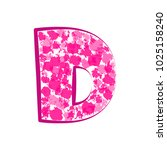 english pink letter d on a... | Shutterstock .eps vector #1025158240