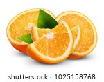 orange fruits with leaf... | Shutterstock . vector #1025158768