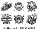 set of vintage t shirt graphic... | Shutterstock .eps vector #1025159020