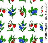 set of berries vector...   Shutterstock .eps vector #1025160610
