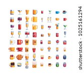 drinks and beverages pixel art... | Shutterstock .eps vector #1025161294
