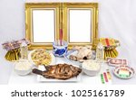 empty photo frame  fish ... | Shutterstock . vector #1025161789