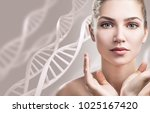 portrait of sensual woman among ... | Shutterstock . vector #1025167420