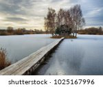 house on the island. bridge on... | Shutterstock . vector #1025167996