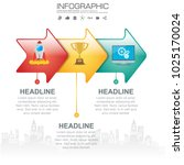 3 parts infographic design... | Shutterstock .eps vector #1025170024